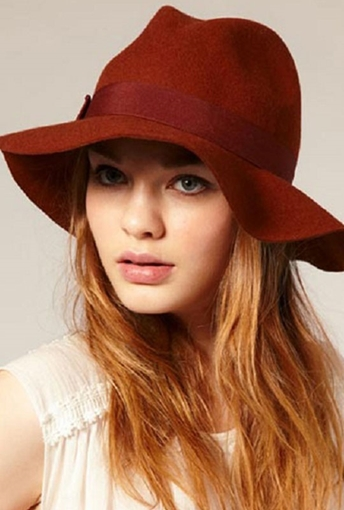 Picture of Red Summer Hat for Women