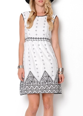 Picture of Jersey wrap-effect dress